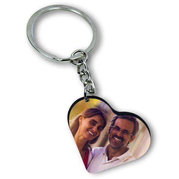 Personalized Photo Keychain Heart Design 4 4
