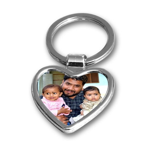 Personalized Photo keychain Metal Heart Design 5 5