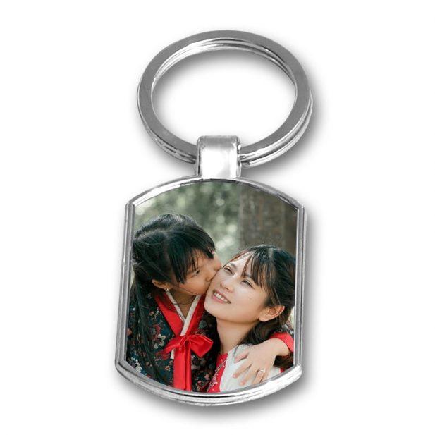 Personalized Photo Keychain Metal Design 6 6