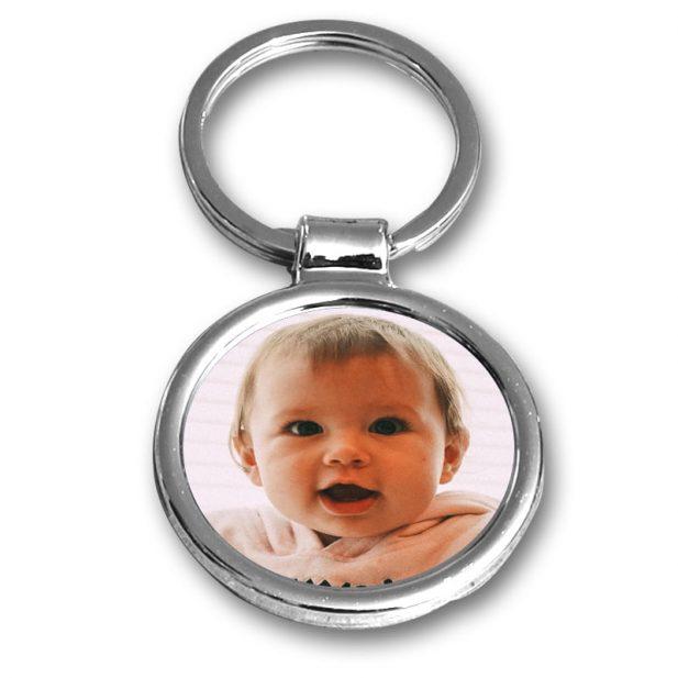 Personalized Photo Keychain Circle Design 7 7