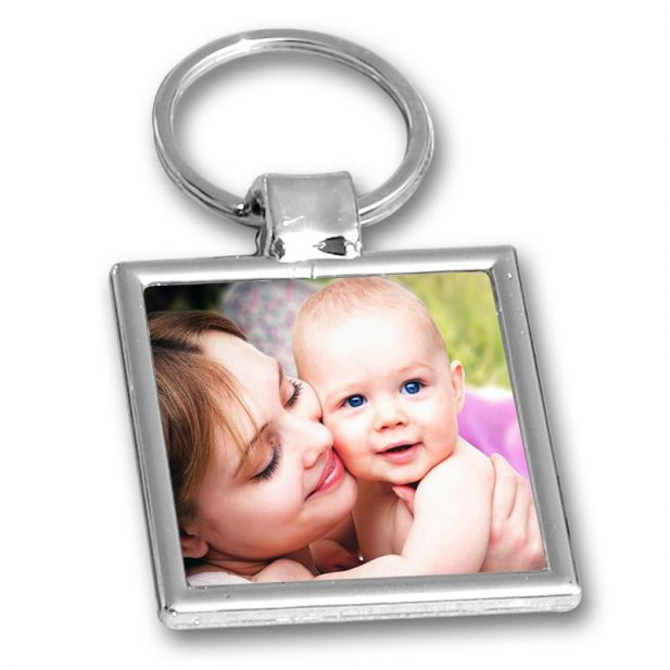 Personalized Photo Keychain Square Design 8 8