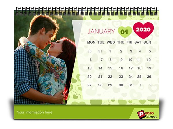 Personalised Desk Calendar 2020 2