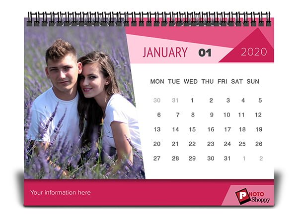 Customised Love Calendar 2020 3