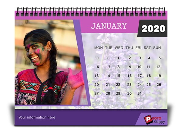Personalized Desk Calendar for 2020 7