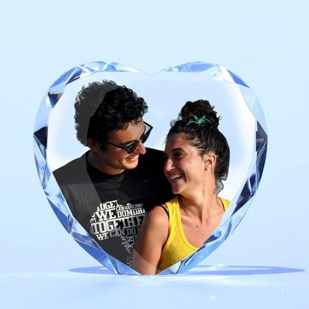 Personalized 3D Crystal Heart Cut Diamond 11