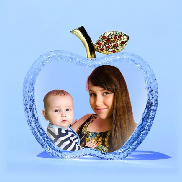 Personalized 3D Crystal Apple Design 1 12