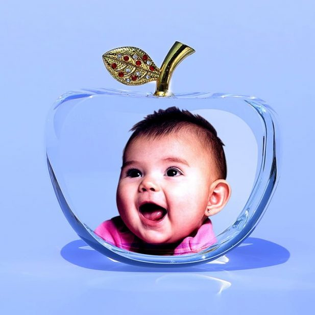 Personalized 3D Crystal Apple Design 2 14