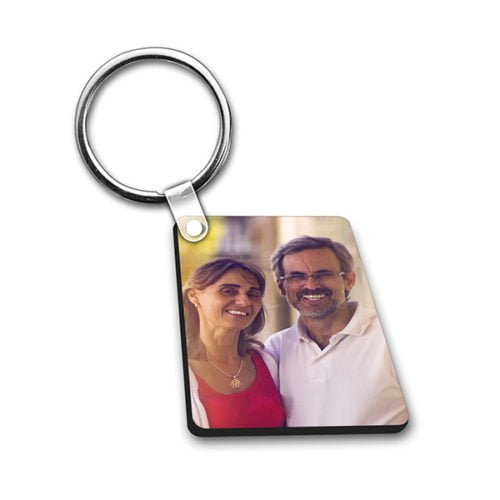 Personalized Photo Keychain Double Side Rectangle Design 14 12