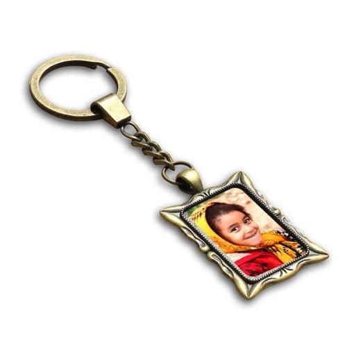 Personalized Photo Keychain Rectangle Design 16 12