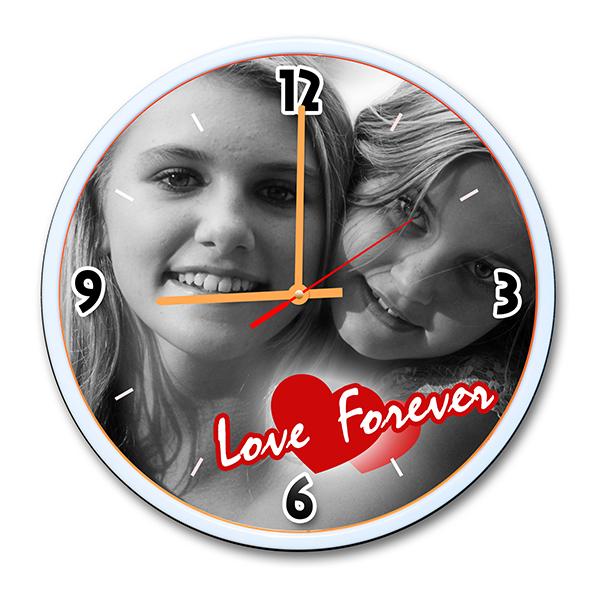 Personalized Photo Wall Clock Design 2 2