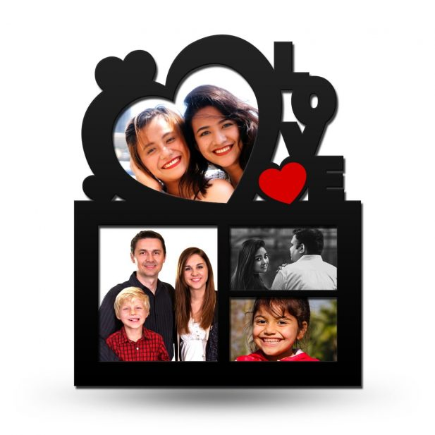 Personalized Love Heart Collage Photo Frame 1