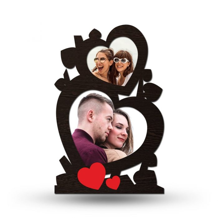 Personalized Twin Heart Collage Photo Frame 1