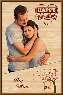 Personalized Photo Print Wood Design 17 17