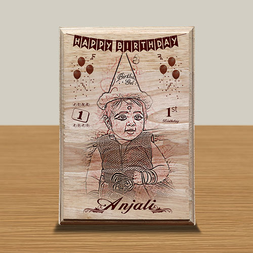 Personalized Wooden Photo Art Frame Design 7 7