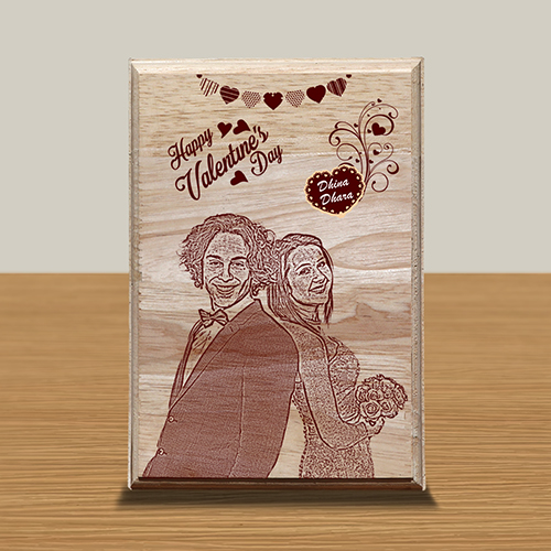 Personalized Wooden Photo Art Frame Design 14  14