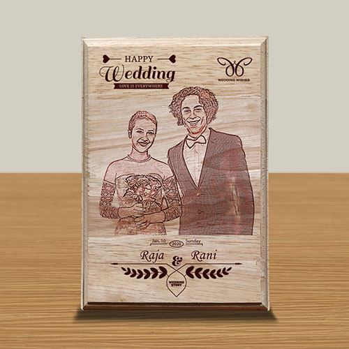 Personalized Wooden Photo Art Frame Design 11 11