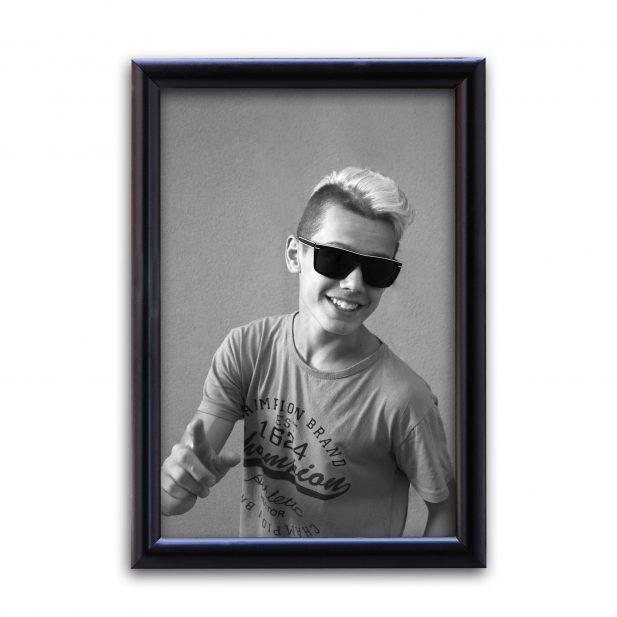 Personalized Plain Black Synthetic Photo Frame Design 22 7
