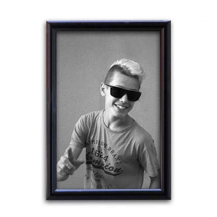 Personalized Plain Black Synthetic Photo Frame Design 22 1