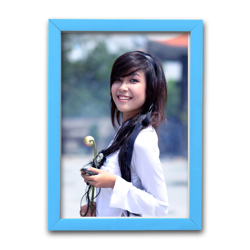 Personalized Sky Blue Synthetic Photo Frame Design 25 1