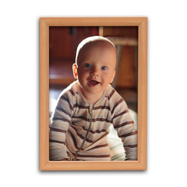 Personalized Light Brown Synthetic Photo Frame Design 26 26