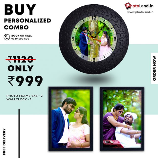 Photo frame | Photo Wall Clock Combo Pack of 3 2