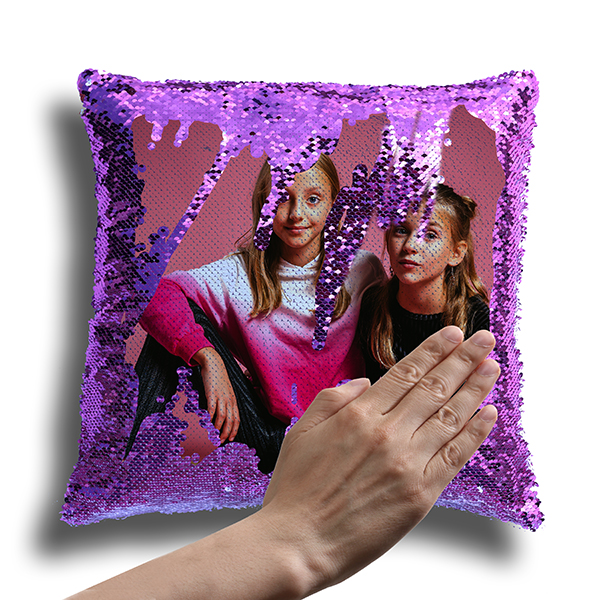 Personalized Magic Photo Pillow-Violet 1
